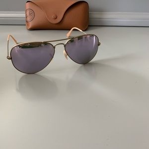 Authentic Ray-Ban Purple Aviator Sunglasses